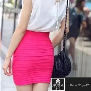 Office Pink Ruffle Mini Skirt Dress Punk Goth